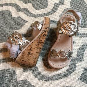 🆕Jack Rogers toddler Miss Luccia platinum sandals